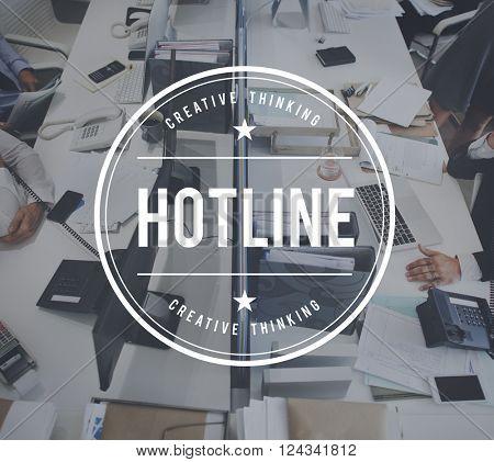 Hotline Customer Service Guide Helpline Concept