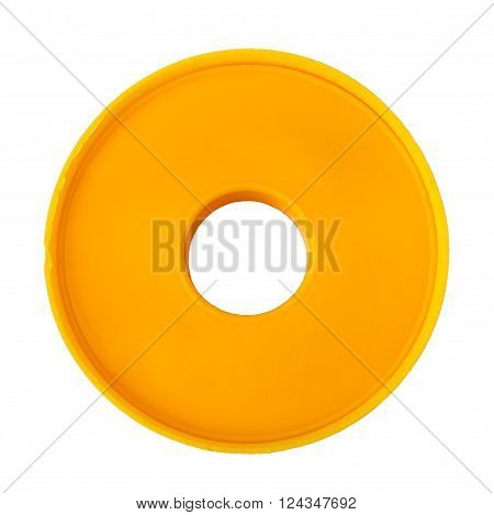 Adhesive tape isolated on white background, closeup