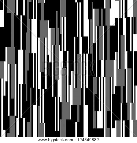 Seamless black and white pattern, vertical lines