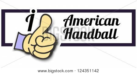 Frame  I Like American Handball Thumb Up Vector graphic logo eps10