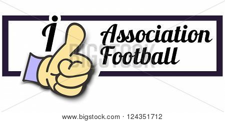 Frame  I Like Association Football Thumb Up Vector graphic logo eps10