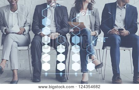 Analysis Statistic Information Percentage Economy Concept