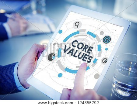 Core Values Principles Ideology Moral Purpose Concept