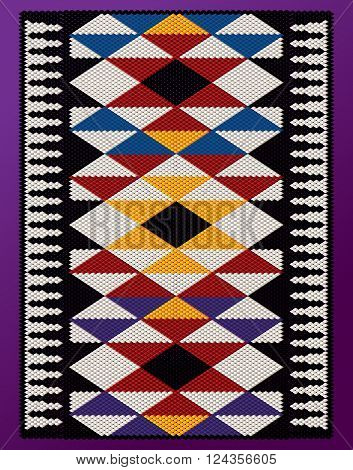 Vertical Pyramids Theme Middle Eastern Traditional Weaving