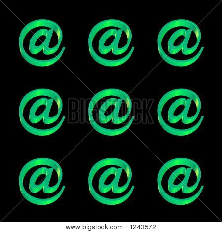 Email @ Signs  Pattern