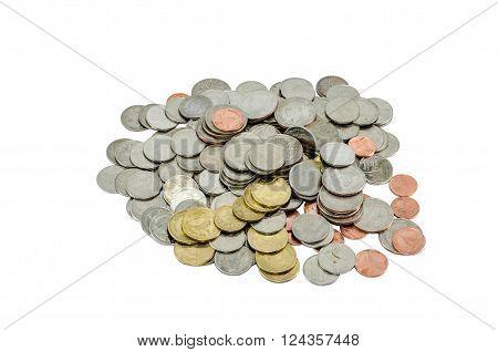 Saving coin, isolated coin, thai bath, banking