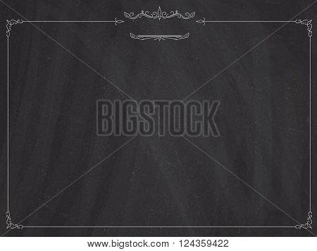 Cafe Menu Retro Blackboard Background