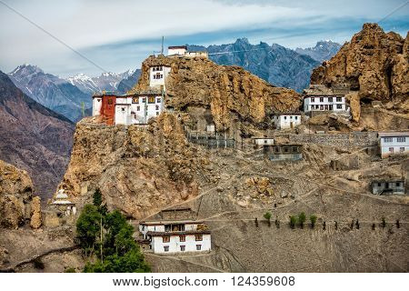 Dhankar gompa. Spiti Valley, Himachal Pradesh, India