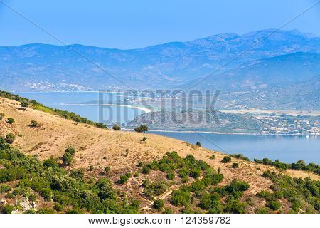 French Mountainous Island Corsica In Summer