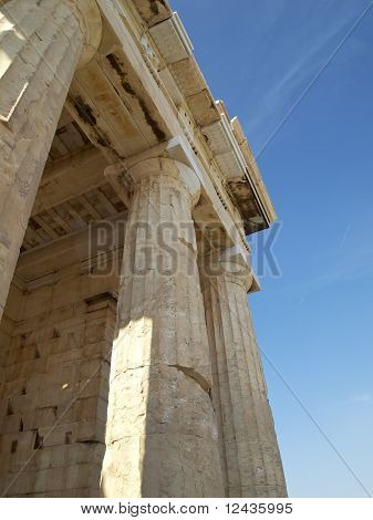 Detail of the Propylaea Acropolis Athens Greece