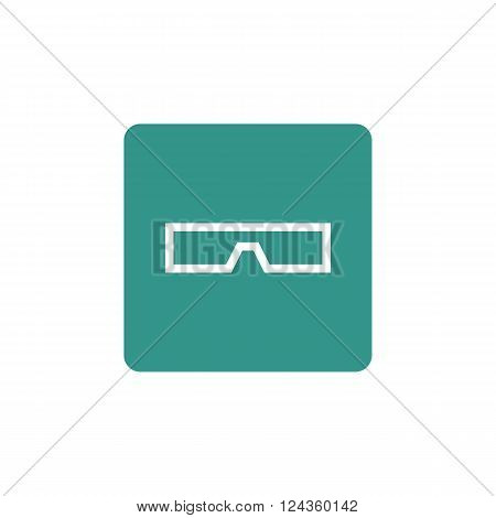 3D Glass Icon In Vector Format. Premium Quality 3D Glass Icon. Web Graphic 3D Glass Icon Sign On Gre
