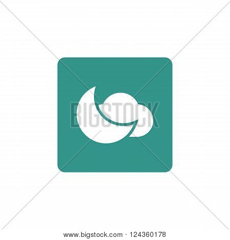 Cloud Moon Icon In Vector Format. Premium Quality Cloud Moon Icon. Web Graphic Cloud Moon Icon Sign