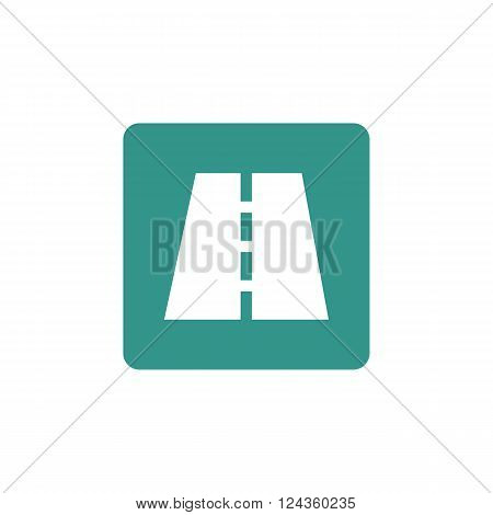 Road Icon In Vector Format. Premium Quality Road Icon. Web Graphic Road Icon Sign On Green Backgroun
