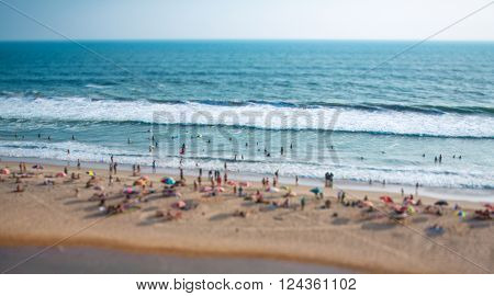 Beach on the Indian Ocean. India (tilt shift lens).