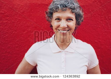 Mature Woman With Beautiful Smile