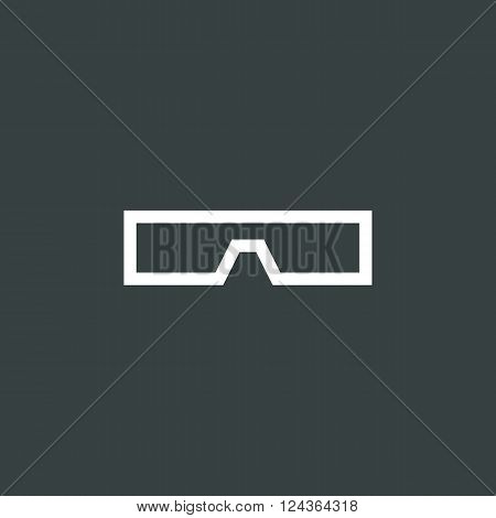 3D Glass Icon In Vector Format. Premium Quality 3D Glass Icon. Web Graphic 3D Glass Icon Sign On Dar