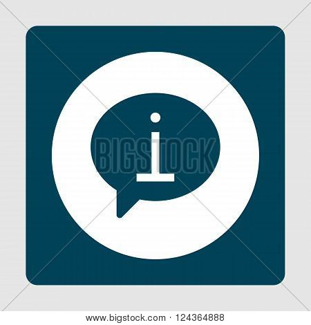 Info Icon In Vector Format. Premium Quality Info Icon. Web Graphic Info Icon Sign On Blue Background