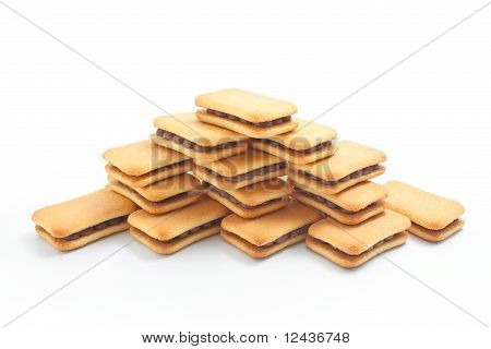 Biscuits Arranged In The Shape Of A Pyramid