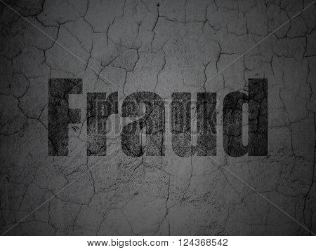 Protection concept: Fraud on grunge wall background