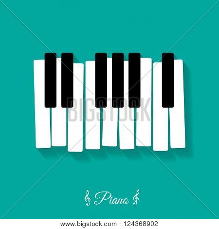 Piano. flat icon - vector illustration isolated
