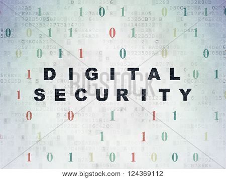 Protection concept: Digital Security on Digital Paper background