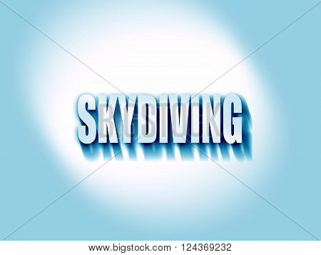 skydiving sign background with some soft smooth lines