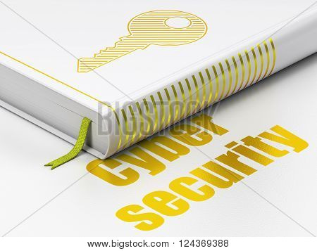 Security concept: book Key, Cyber Security on white background