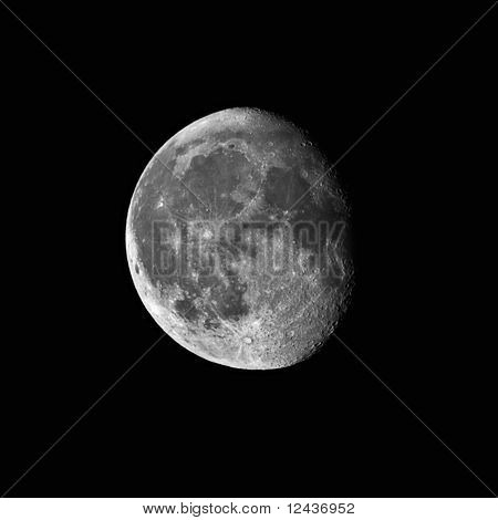 Waning Gibbous Moon Captured With A 0.2 Meters Telescope