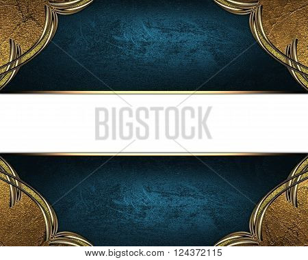 Blue Texture With Ornament And Blue Nameplate. Template For Design. Copy Space For Ad Brochure Or An