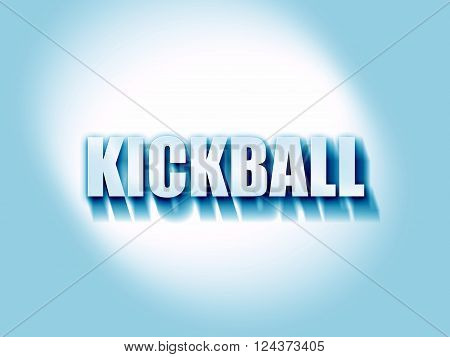 kickball sign background with some soft smooth lines