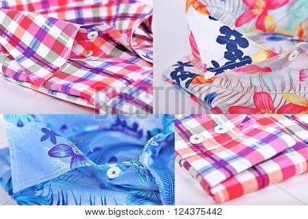 Many shirt with long sleeves close up