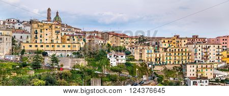 View of Vietri Sul Mare town of the Amalfi coast, Italy