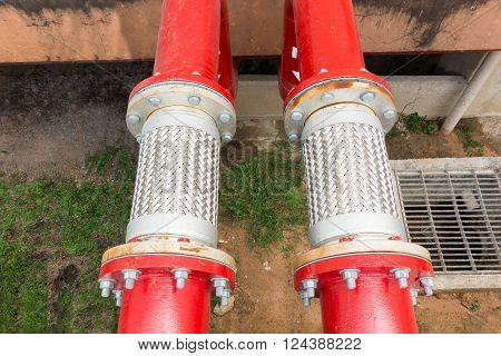 Flexible pipe and pipe connection for fire protection system.