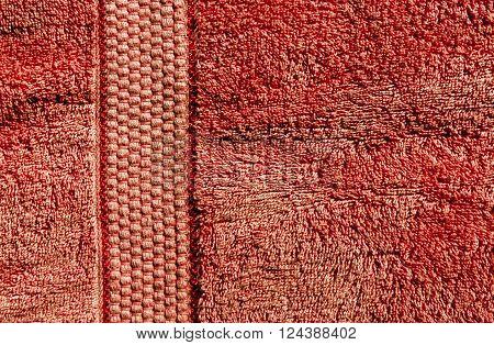 Orange Bath Towel Texture.