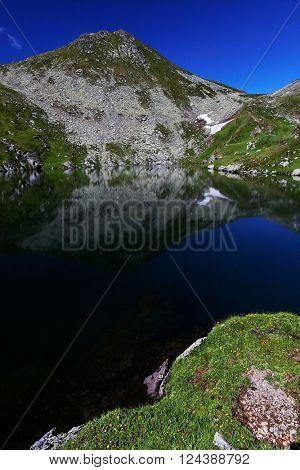 Capra lake in the Transylvanian Alps, Romania