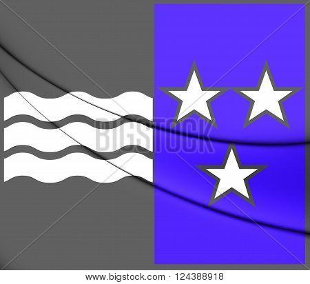 Flag Of Aargau Canton, Switzerland.