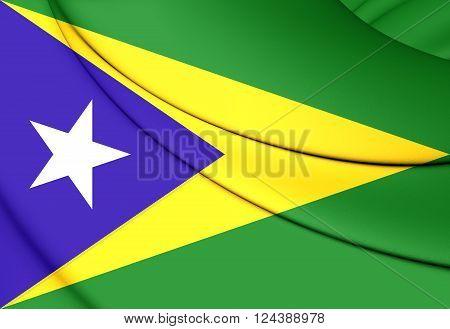 Flag Of Aguas Buenas, Puerto Rico.