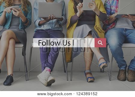 Follow Us Follower Internet Leader Share Social Concept