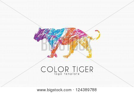 Tiger logo. Color tiger design. Creative logo