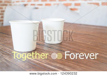 Together forever quote design poster stock photo