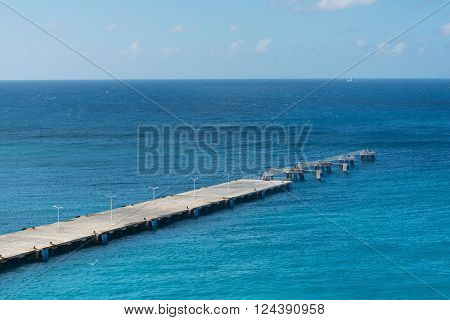 Unoccupied dock into Great Bay Philipsburg Sint Maarten