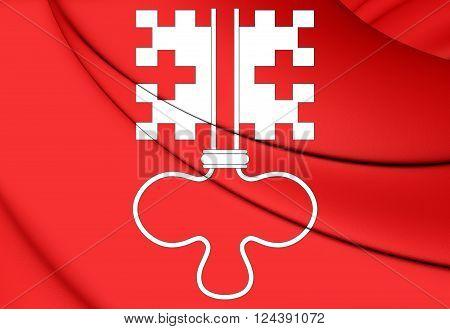 Flag Of Nidwalden Canton, Switzerland.