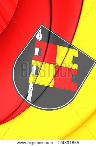Flag Of Wurzburg (bavaria), Germany.