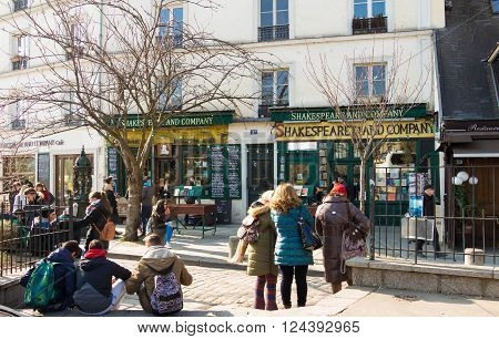 Paris France-March 13 2016 : The famous bookstore