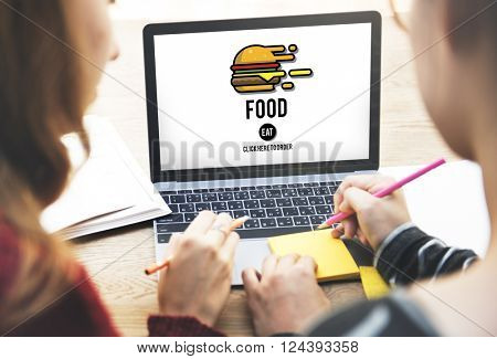 Food Burger Dining Eating Nourishment Concept