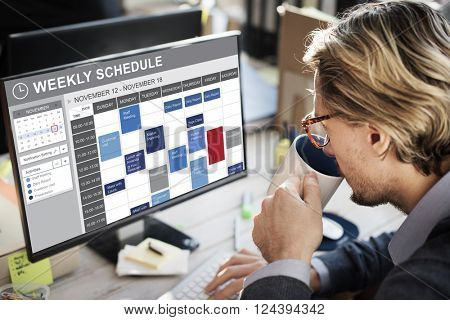 Weekly Schedule To Do List Appointment Concept
