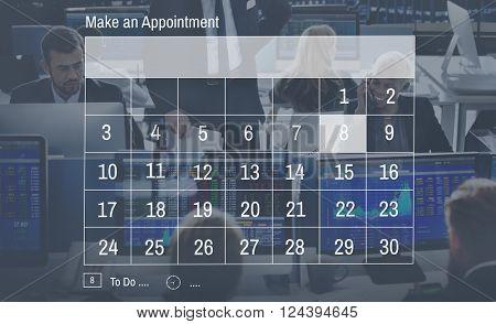 Calendar Agenda Appointment Meeting Memo Concept