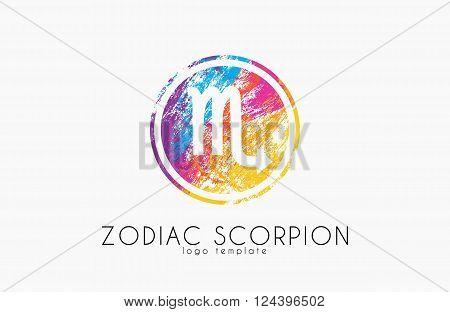 scorpion zodiac slogo. Scorpion symbol. Creative logo