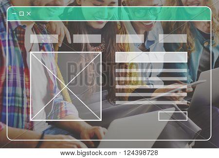 Website Webpage Profile Page Concept