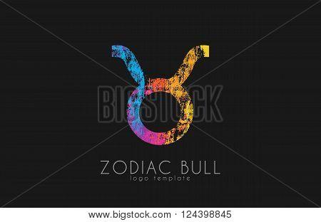 Zodiac lion logo. Lion symbol. Zodiac logo